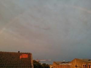 rainbow at sunset-whole